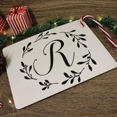 personalised initial placemat