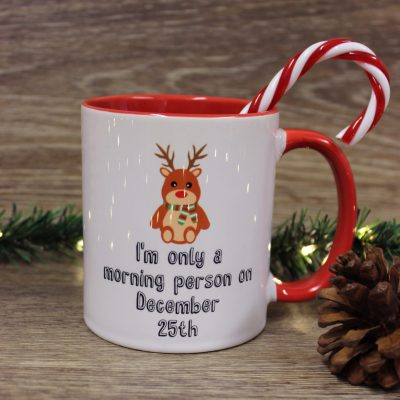 I'm only a morning person on December 25th Mug