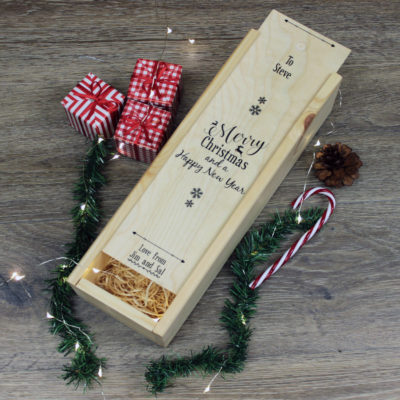 personalised christmas wine box fmbranding