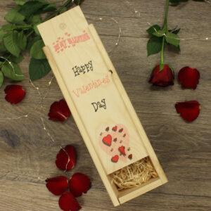 Be my valentine wine box