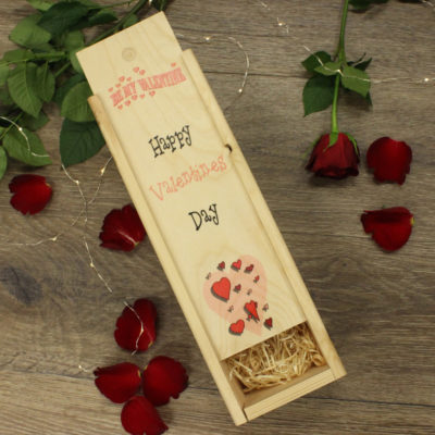 Be my valentine wine box