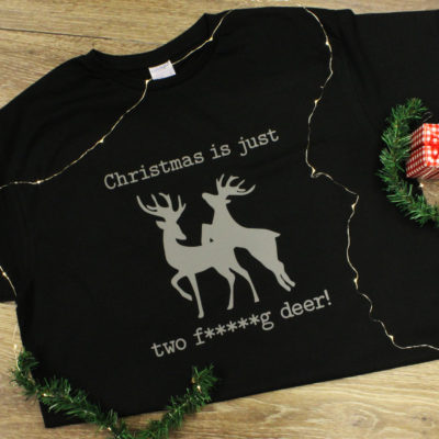 Christmas Is Just Two Fucking Deer T-shirt