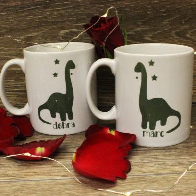 Personalised Dinosaur Mugs