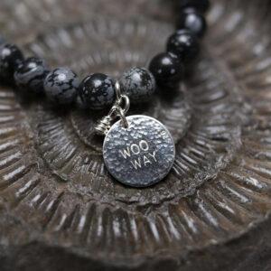 Snowflake Obsidian woo way bracelet fmbranding gifts