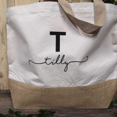 initial-beach-tote-bag